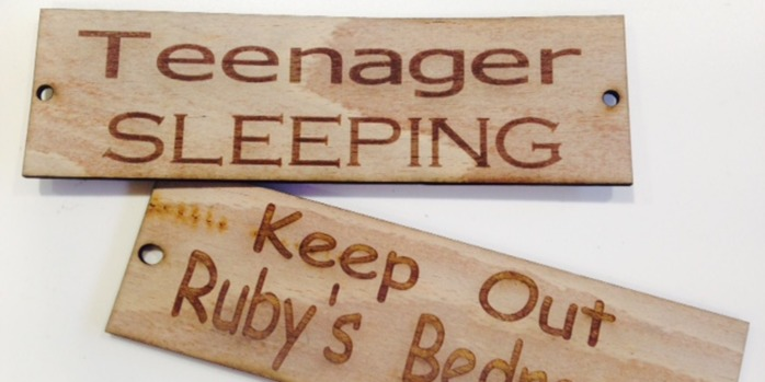 Summer Sessions - Laser Cut Bedroom Signs T